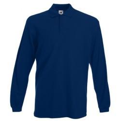 Bleu marine à manches longues polo