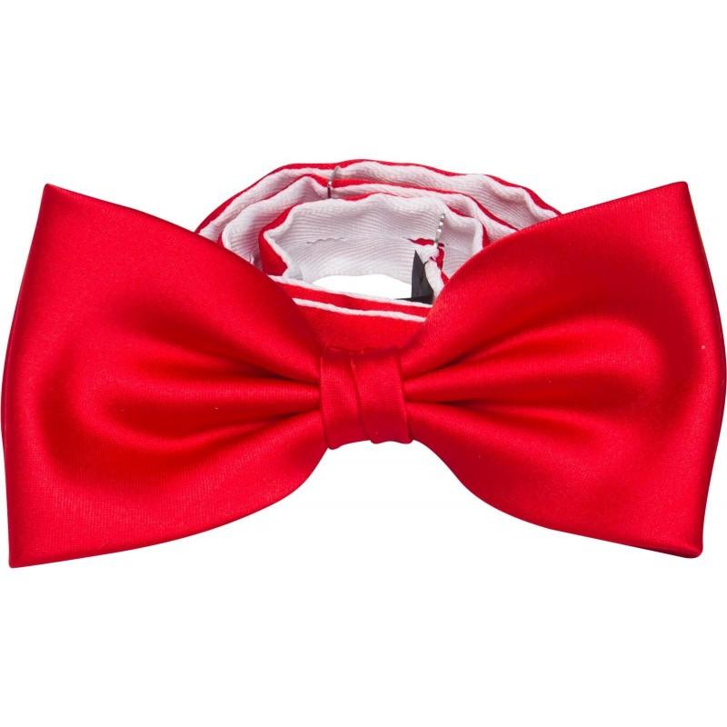acheter un noeud papillon rouge avec un mouchoir dans la m me couleur. Black Bedroom Furniture Sets. Home Design Ideas