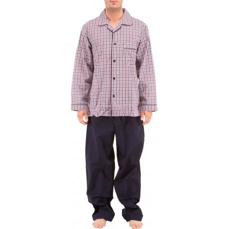 Pyjamas en popeline à carreaux