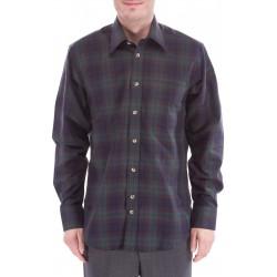 Chemise à carreaux avec de la laine