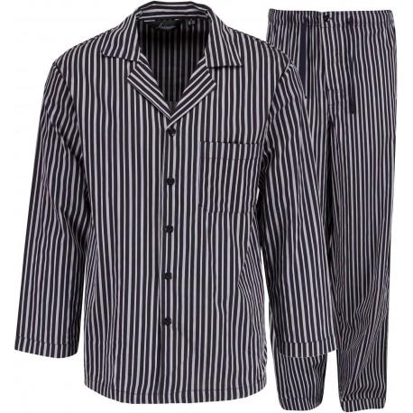 Ambassadeur pyjama rayé gris