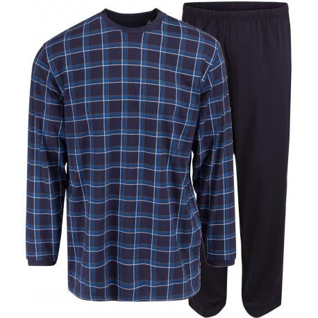 Ambassador jersey pyjama - Bleu à carreaux