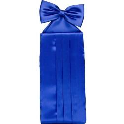 Bleu Cobalt ceinture de smoking colorée