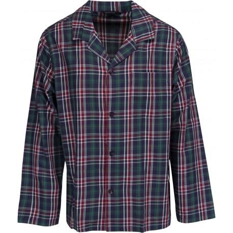 Schiesser pyjamas pour les hommes - à carreaux vert