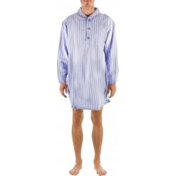 Chemise de nuit rayée bleu